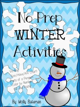 No Prep Winter Activities