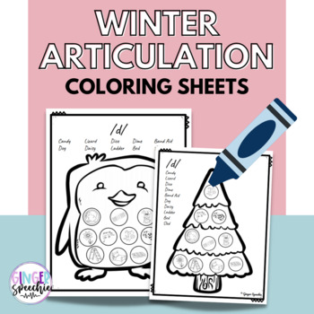 No Prep Winter Articulation Coloring: All Sounds