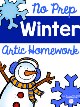 No Prep Winter Articulation Homework