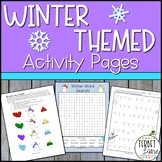 Winter Activities Fun Pages