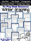 No Prep Winter Graphing Pack - Line Plots, Bar Graphs, Pictographs, and More