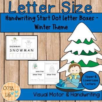 No Prep Winter Handwriting Fun Packet