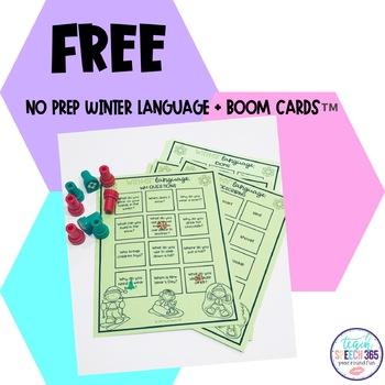 No Prep Winter Language Freebie