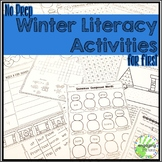 No Prep Winter Literacy Activities for First Grade