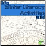No Prep Winter Literacy Activities for First Grade