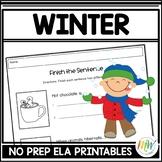 Winter Literacy Activities NO PREP