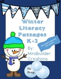 No Prep! Winter Literacy Passages with Activities