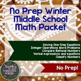 No Prep Christmas Math Packet--Middle School Math