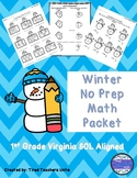 No Prep Winter Math Packet - First Grade