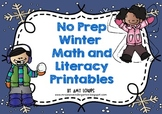 No Prep Winter Math and Literacy Printables
