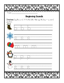 No Prep Winter Morning Work Printable