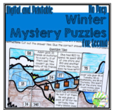 No Prep Winter Mystery Puzzles for 2nd Grade