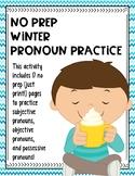 No Prep Winter Pronoun Practice