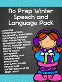 No Prep Winter Speech and Language Pack