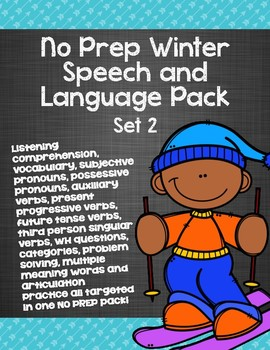 No Prep Winter Speech and Language Pack - Set 2