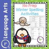 No Prep Winter Spelling Activities and Worksheets