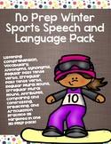 No Prep Winter Sports Speech and Language Pack