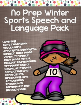 No Prep Winter Sports Speech and Language Pack