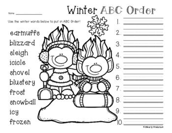 No Prep: Winter Trolls ABC Order