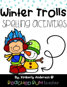 No Prep Winter Trolls Word Work Activities - Word Study / Spelling / Sight Words