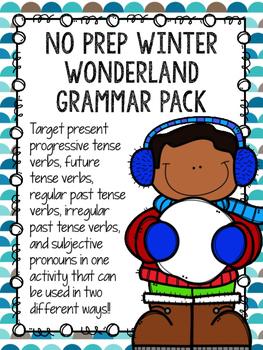No Prep Winter Wonderland Grammar Pack