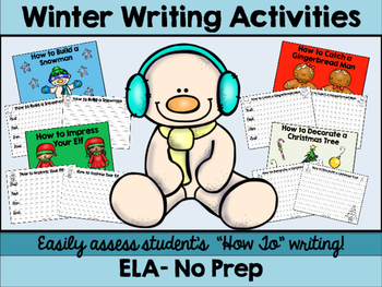 "No Prep Winter ""How To"" Writing"