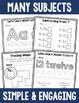 Kindergarten Worksheet Bundle - Literacy, Math and More!