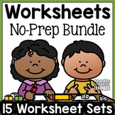 Kindergarten Worksheet Bundle - Literacy, Math and More!