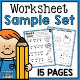 No-Prep Worksheet Sample Freebie