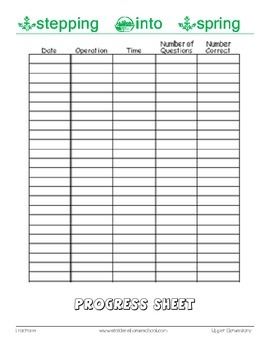 No Prep Worksheets! 402 Spring Themed Fractions, Grade 5+