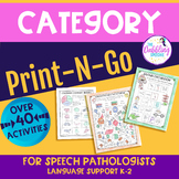 No Prep Worksheets For Categories-Distance Learning