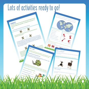 No Prep Worksheets - The Three Billy Goats Gruff - Thematic Unit