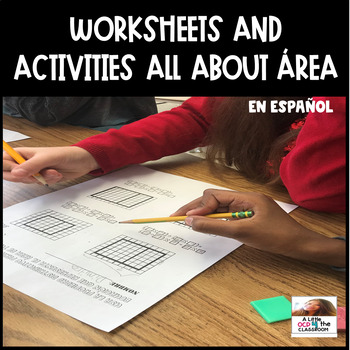 No Prep Worksheets and Activities all about AREA