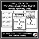 No-Prep Worksheets and Anchor Charts for Inferencing Skills