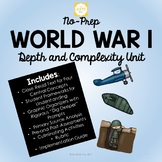 No-Prep World War 1 Unit with Depth and Complexity