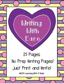 Writing With Ease No Prep Writing with Word Bank - Great Writing Center!