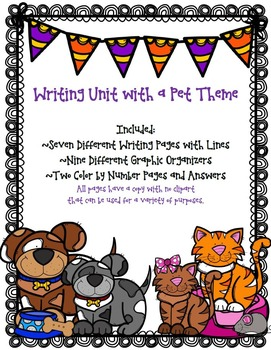 Writing Unit with a Pet Theme