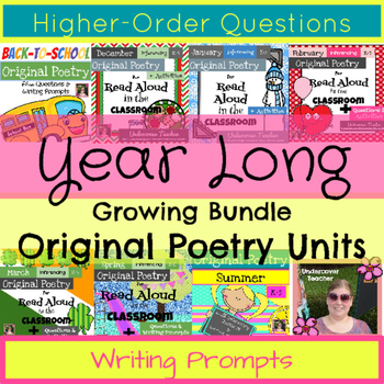 Year Long Poetry Unit & Inferencing Activities