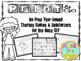 No Prep Year-Round Therapy Games & Reinforcers for the Busy SLP