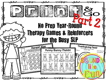 No Prep Year-Round Games & Reinforcers for the Busy SLP Part 2