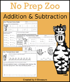 No Prep Zoo Addition & Subtraction