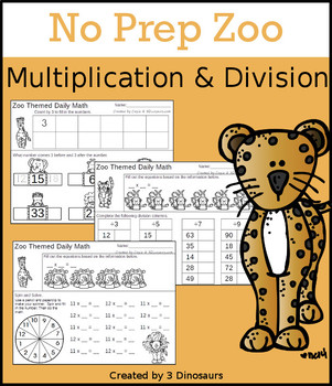 No Prep Zoo Multiplication & Division