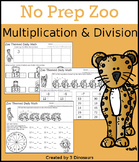 No Prep Zoo Multiplication & Division