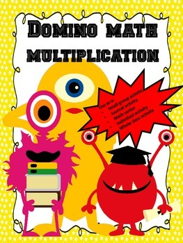 No Prep...Multiplication Dominoes...Interactive Brain Teasers