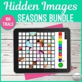 No Print Seasons Hidden Photos Games for Speech and Articu