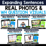 **No Print 5 Fun Language Activities With Real Photos Wh Questions Bundle