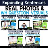 **No Print Expanding Sentences Using Visual Cues Bundle | Real Photos
