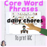 AAC Core Vocabulary Activities No Print Phrases | Daily Ch
