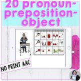 AAC Core Vocabulary Activities No Print Pronoun Prepositio