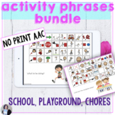 AAC Core Vocabulary Activities Phrases Bundle No Print Spe
